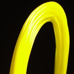 PP 3D printer filament 1.75 mm close to glow in the dark yellow 396 C
