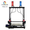 VIVEDINO T-Rex 3.0 Large Format Multi-function IDEX 3D Printer with 400x400x500mm Build Size