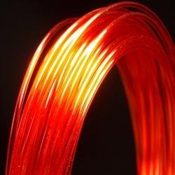 Filament d'imprimante 3D PC 3.00 mm rouge 485C