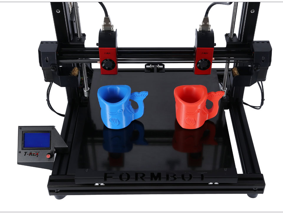 3D print printing duplicate objects parts at once independent dual extruder