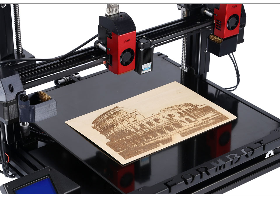 T-Rex 2 + Laser engraver engraving large 3D printer