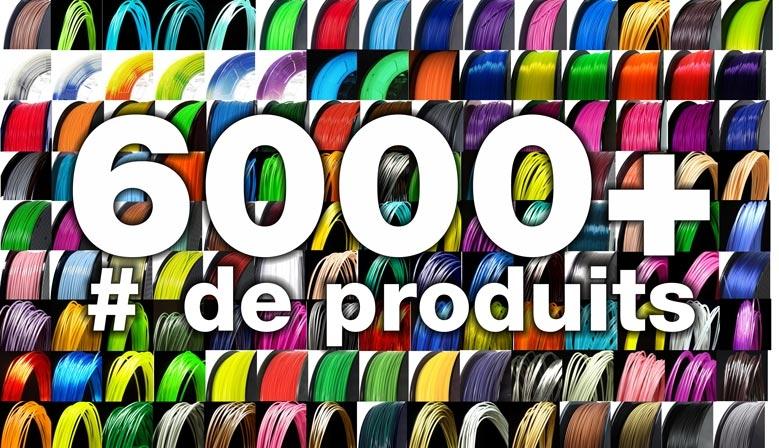 Choisissez parmi 6000+ numéros de produit de filaments d'imprimante 3D